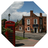 pub and phone box